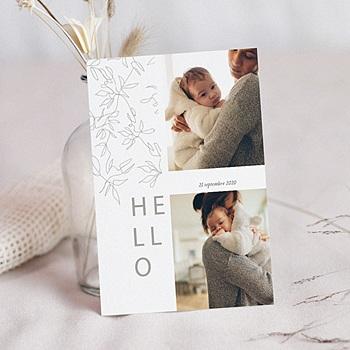 Faire-part naissance design personnalisable