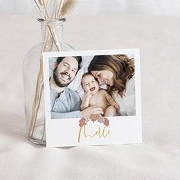 Carte remerciement naissance photo Bom Dia