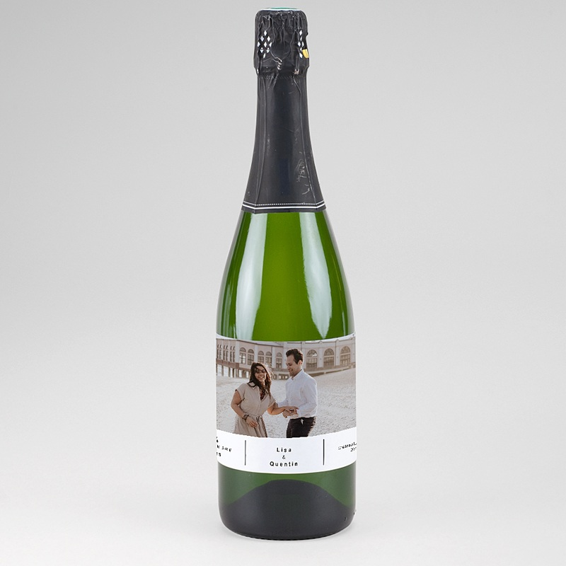 Etiquette Bouteille Champagne Vin & Photo