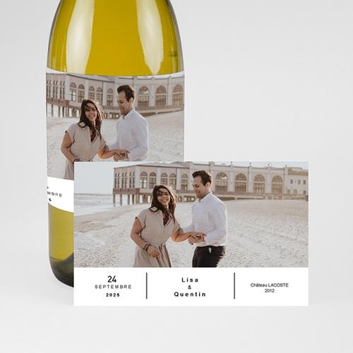 Etiquette Bouteille Champagne Vin & Photo pas cher