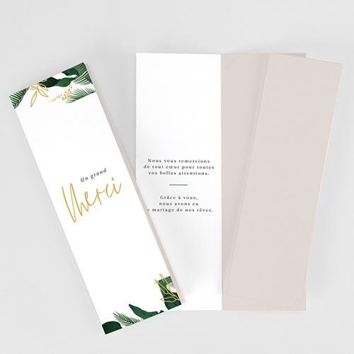 Carte Remerciement Mariage Champêtre Jardin Tropical