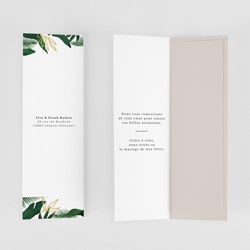 Carte Remerciement Mariage Champêtre Jardin Tropical gratuit