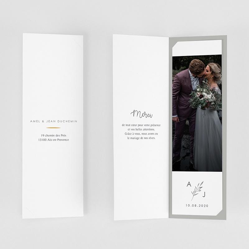 Carte Remerciement Mariage Champêtre Rameaux Aquarelle gratuit