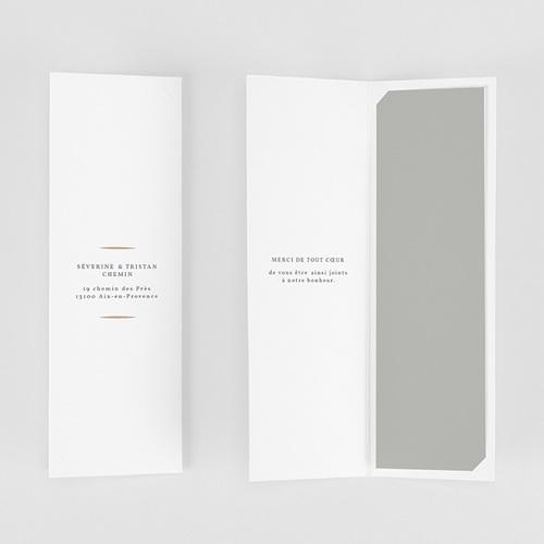 Carte remerciement mariage champêtre Feuillages Vintage gratuit