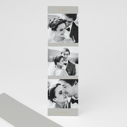 Carte remerciement mariage champêtre Feuillages Vintage