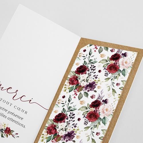 Carte Remerciement Mariage Original Couronne Marsala gratuit