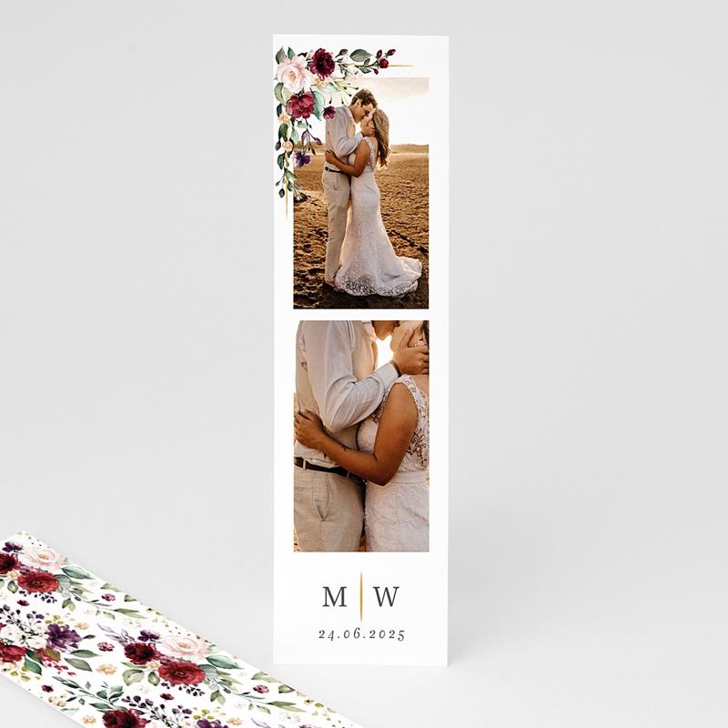 Carte Remerciement Mariage Original Couronne Marsala