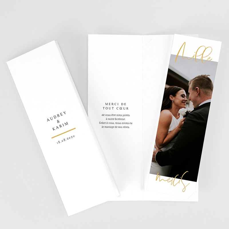 Carte Remerciement Mariage Chic On se marie