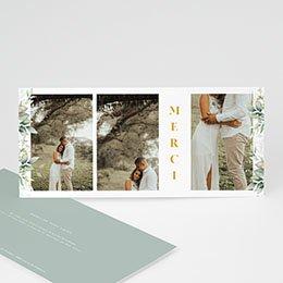 Carte remerciement mariage champêtre Panorama Champêtre 3 Photos