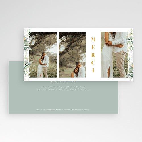 Carte Remerciement Mariage Champêtre Panorama Champêtre 3 Photos pas cher