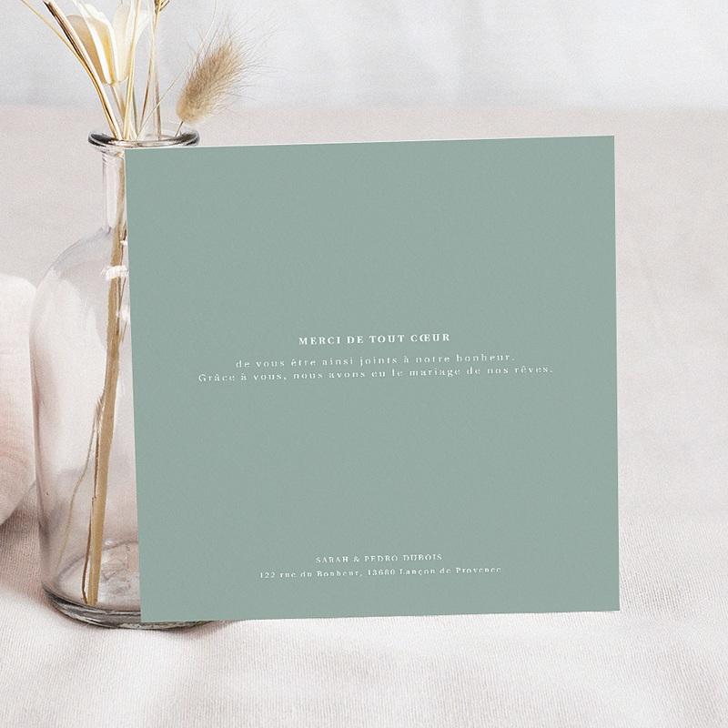 Carte remerciement mariage champêtre Carré Champêtre 3 photos pas cher