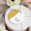 Etiquette Cadeau Mariage Brush Doré gratuit