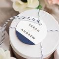 Etiquette Cadeau Mariage Blue Color Touch gratuit