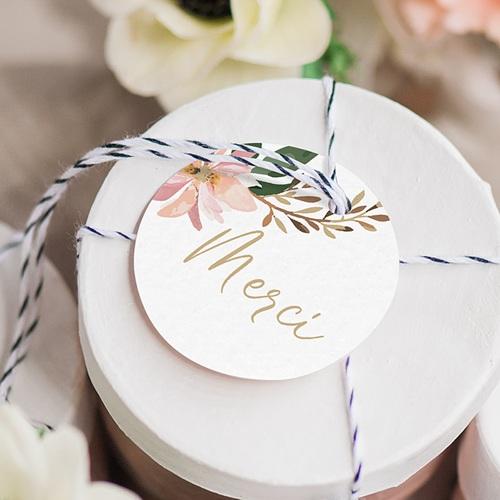 Etiquette mariage Douceur des fleurs gratuit