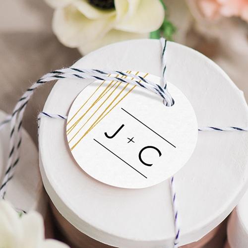 Etiquette Cadeau Mariage Minimaliste Chic gratuit