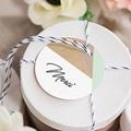 Etiquette mariage Bois & Pastel gratuit