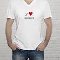 Tee-shirt homme Phrase d'amour gratuit