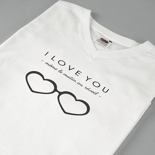Tee-shirt homme Mon Valentin pas cher
