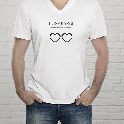 Tee-shirt homme Mon Valentin gratuit