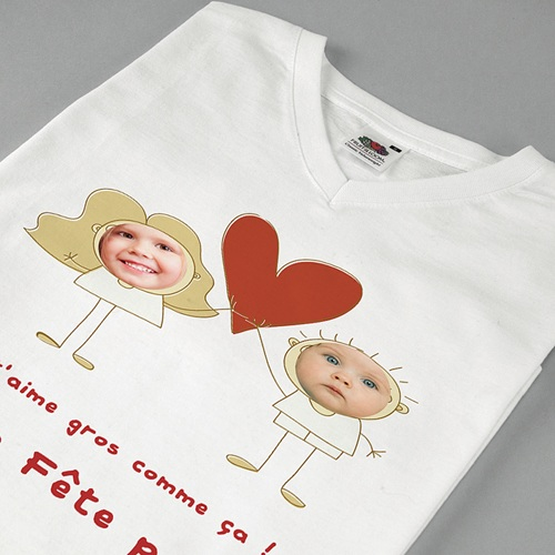 Tee-shirt homme On t'aime ! pas cher