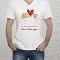 Tee-shirt homme On t'aime ! gratuit