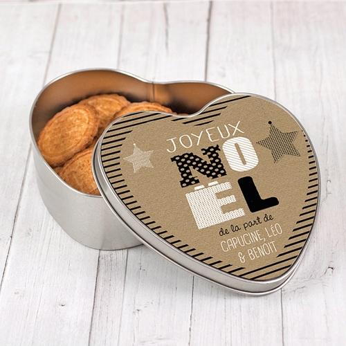 Boîte Personnalisée Photo Coeur en Kraft pas cher