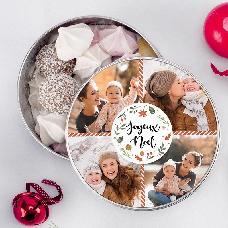 Boîte Personnalisée Photo Noël tout doux pas cher