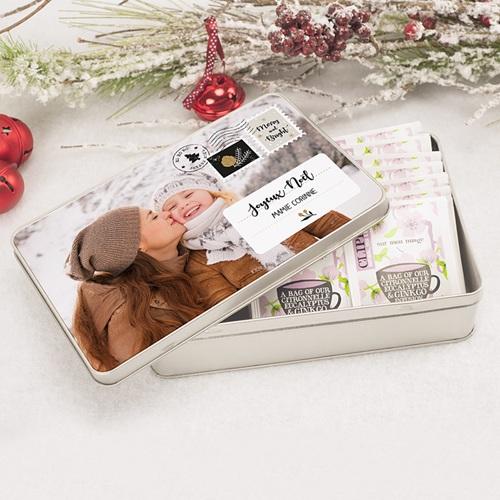 Boîte Personnalisée Photo Timbres Noël pas cher