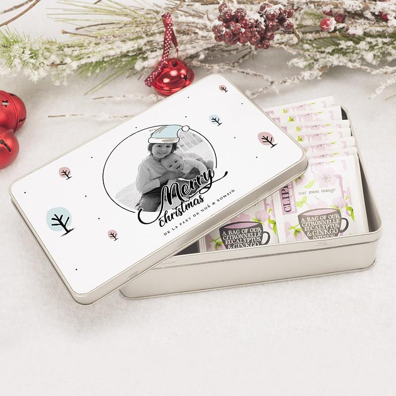 Boîte en métal rectangle Merry and Happy pas cher