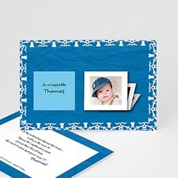 Faire-Part Naissance Premiers souvenirs en bleu