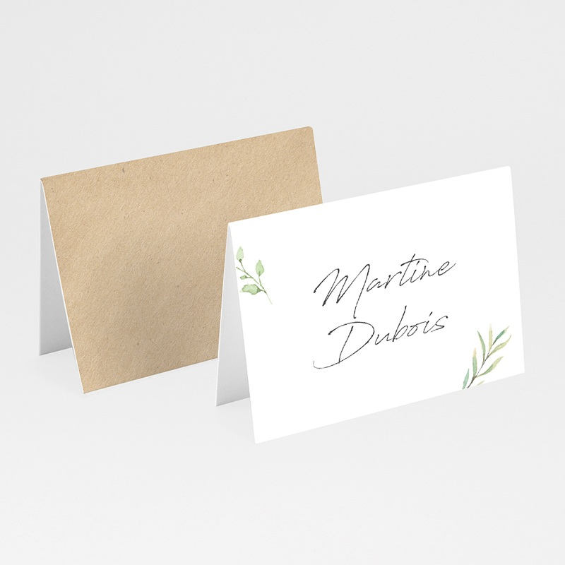 Marque Place Mariage Cadre Feuillage