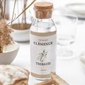 Étiquette bouteille mariage vin Cadre Feuillage gratuit
