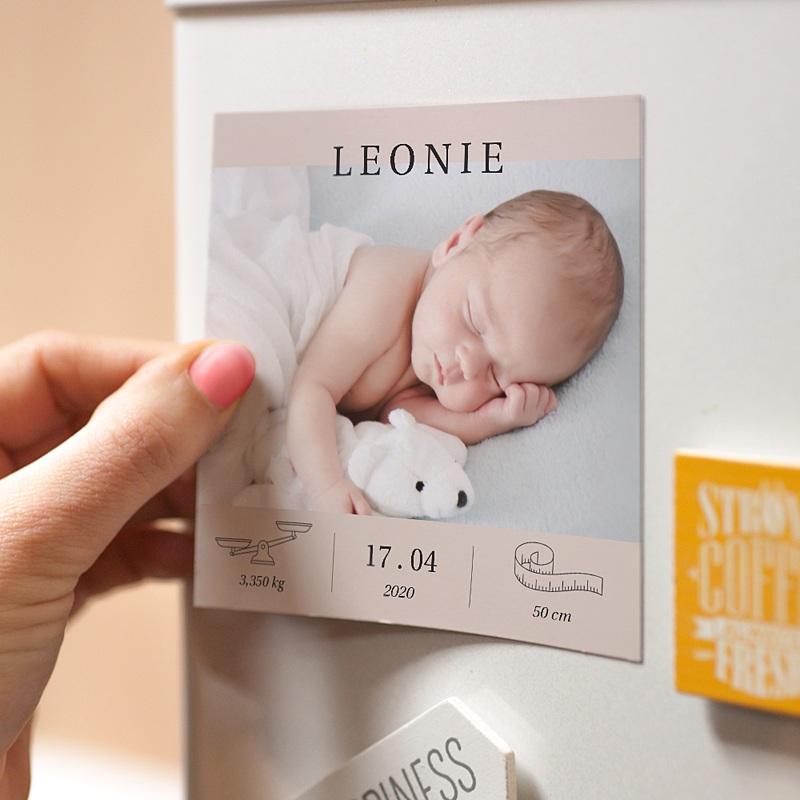 Faire-part naissance magnet Exclusivité pas cher