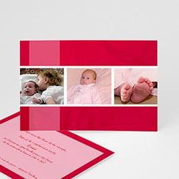 Faire-Part Naissance Carte mémoire rouge