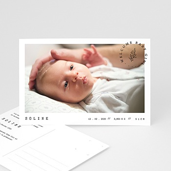 Faire-part naissance fille Carte postale bébé