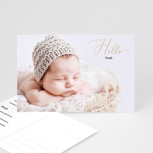 Faire-Part Naissance Fille Carte postale hello