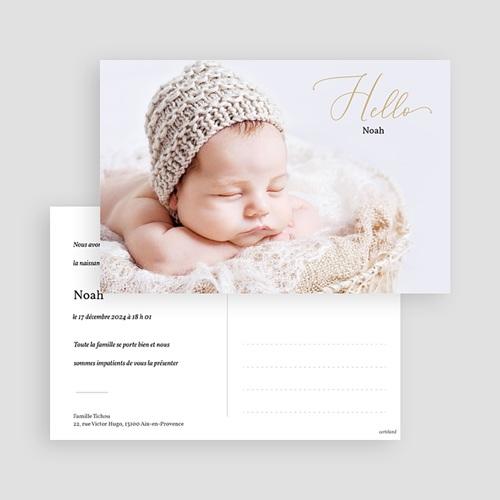 Faire-Part Naissance Fille Carte postale hello gratuit