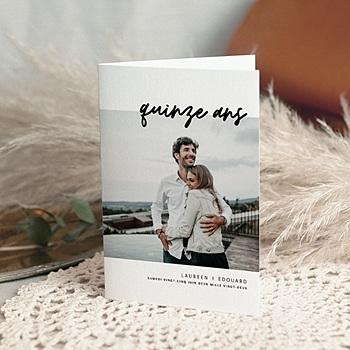 Carte invitation anniversaire mariage Noces de Cristal 15 ans