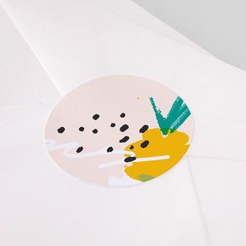 Etiquette Autocollante Naissance Ananas Artsy pas cher