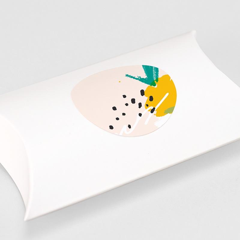 Etiquette Autocollante Naissance Ananas Artsy gratuit