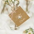 Etiquette Cadeau Mariage Romantique Kraft