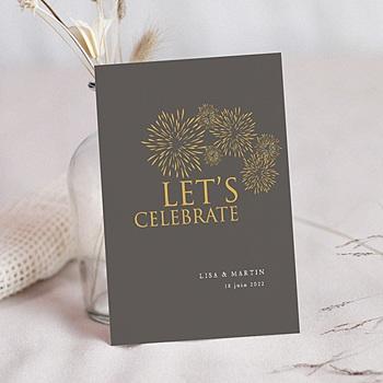 Carte invitation anniversaire mariage 25 ans Noces