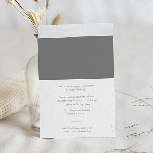 Carte Invitation Anniversaire Mariage 25 ans Noces pas cher