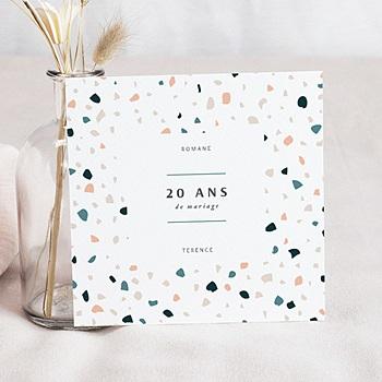 Carte invitation anniversaire mariage 20 ans Porcelaine
