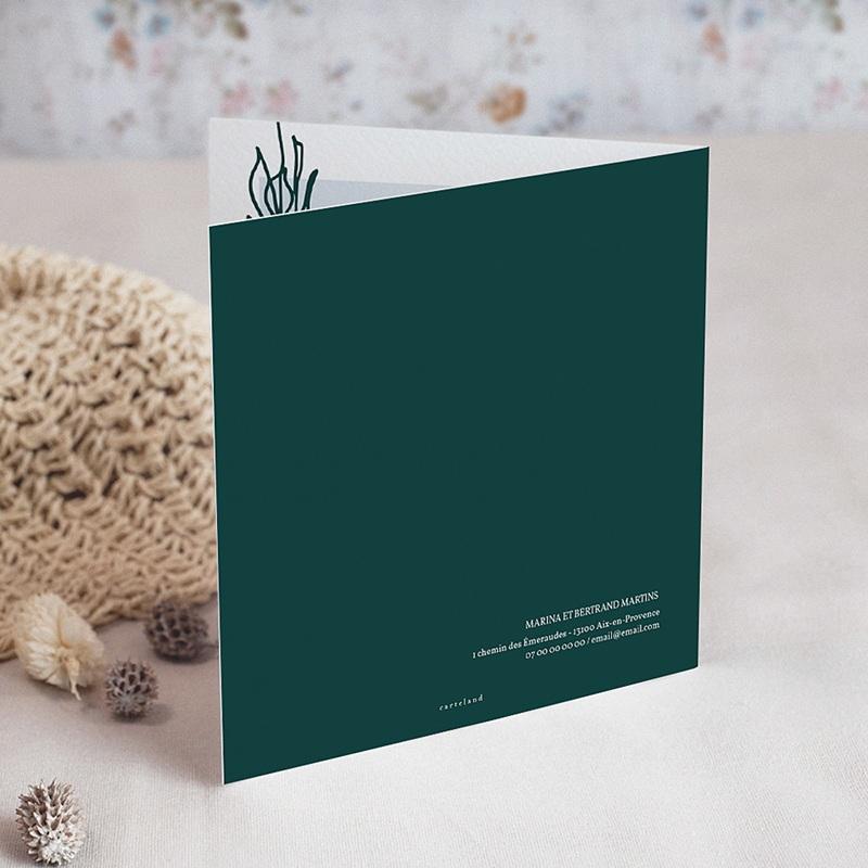 Carte Invitation Anniversaire Mariage 40 ans Emeraude gratuit