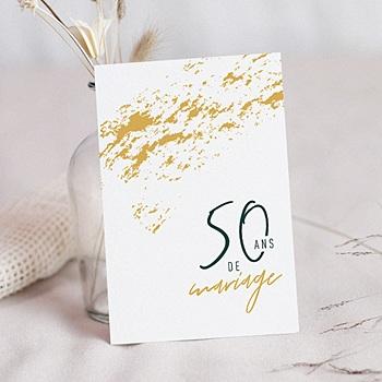 Carte invitation anniversaire mariage 50 ans d'amour