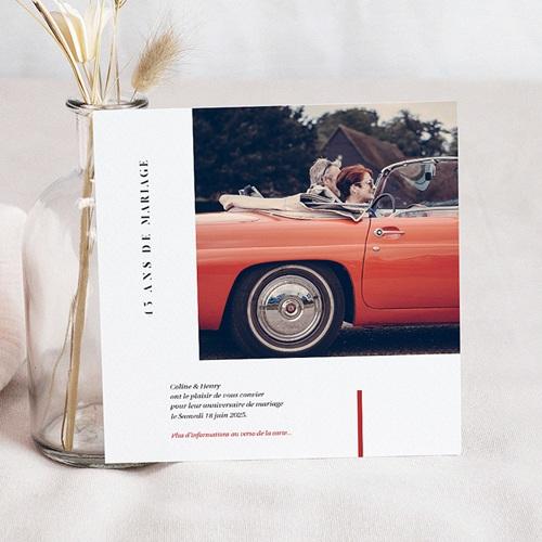 Carte Invitation Anniversaire Mariage Vermeil - 45 ans