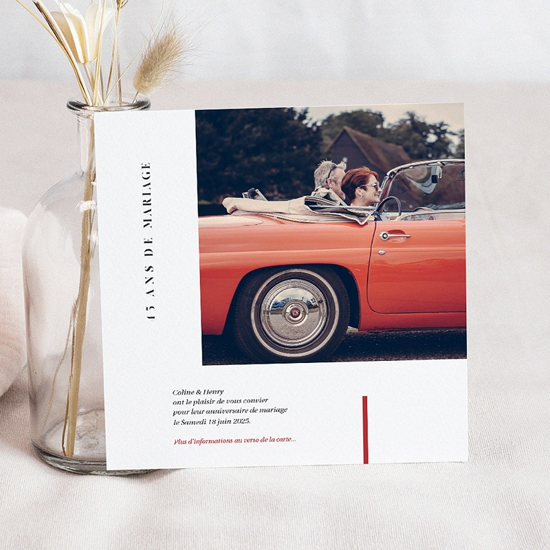 Carte Invitation Anniversaire Mariage Vermeil 45 Ans Echantillon Offert Carteland