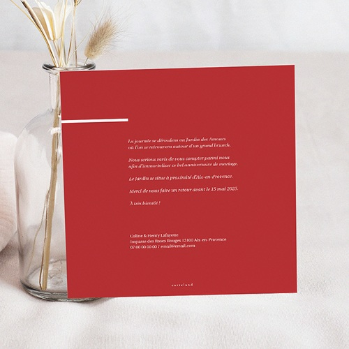 Carte Invitation Anniversaire Mariage.Carte Invitation Anniversaire Mariage Vermeil 45 Ans