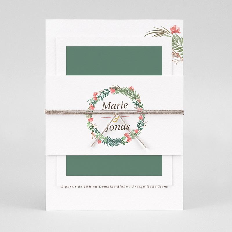 Faire-Part Mariage Original Couronne Tropicale pas cher